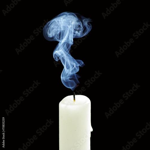 out candle smoke - 70835259