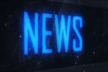 NEWS text on virtual screens