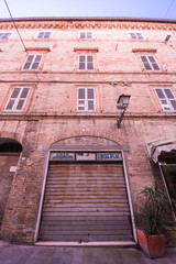 Old photographer shop closed in Italy