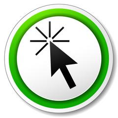 Vector cursor click icon