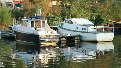 Boats summer marina