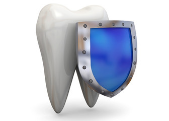 Protect Your Teeth Concept - 3D