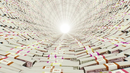 Tunnel. Stacks of money. (0-300 are loop-able)