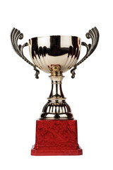 trophy cup isolated on the white