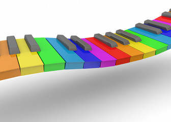 Colorful Piano - 3D