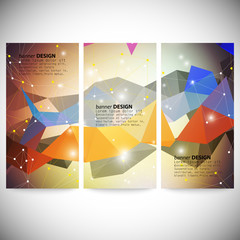 Set with polygonal abstract shapes, circles, lines and triangles