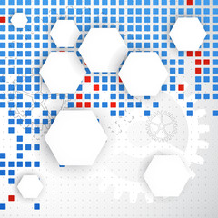 Abstract blank. Pixel art. Vector