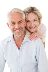 Close up portrait of happy mature couple