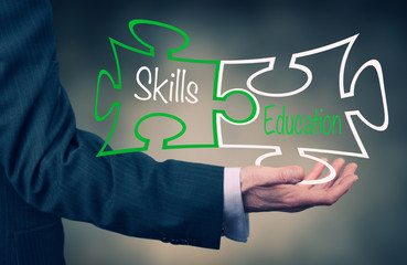 Skills & Education concept
