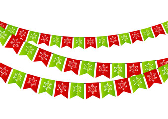 Party Christmas flags for Your design