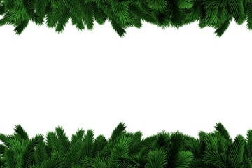 Fir tree branches forming frame