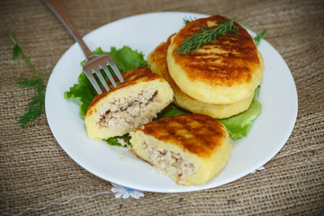 Potato cakes with meat