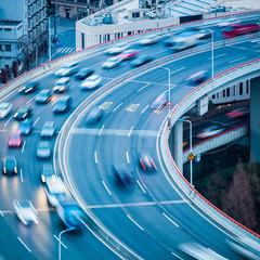 vehicles motion blur closeup
