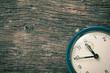 closeup of analog retro alarm clock - 70840602