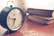 canvas print picture - analog retro alarm clock
