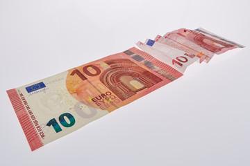 Der neue Zehn Euroschein bremst den alten aus