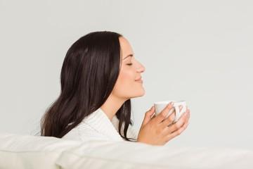 Woman enjoying a lovely drink