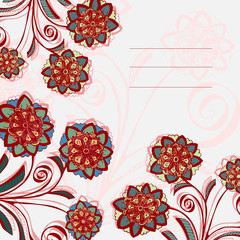 Greetting card with flowers pattern