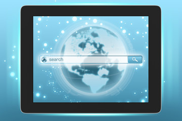 Virtual Internet search on the tablet