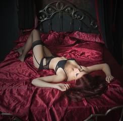 sexy girl in bedroom