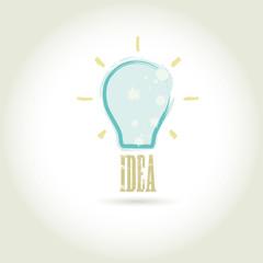 Bulb light idea vector illustration