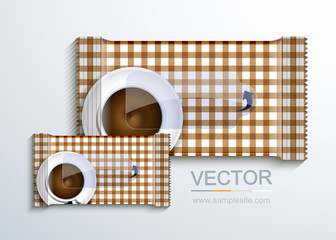 vector modern packaging for wet wipes.
