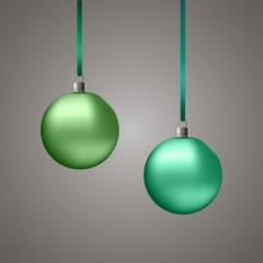 Зеленые новогодние шары/Green christmas balls