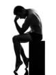 man rodin thinker silhouette