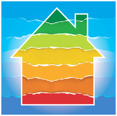 House symbol with Energy performance scale