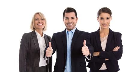 Erfolgreiches Business Team - Frauen und Mann freigestellt