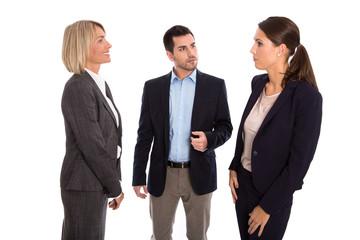 Geschäftsleute isoliert in Besprechung oder Gespräch