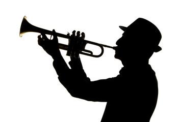 trumpetist silhouette
