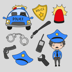 Police people icons pack
