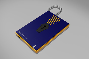 External HDD with guard