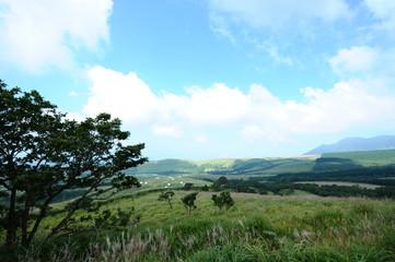 高原のパノラマビュー
