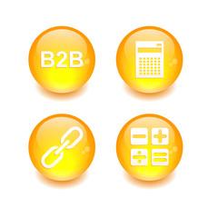 Button icon set 3D internet1