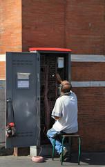 Maintenance d'un sous-répartiteur téléphonique