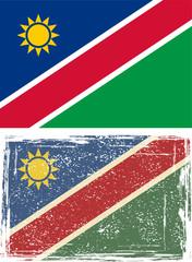 Namibia grunge flag. Vector illustration.