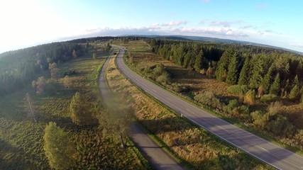 Luftaufnahme - Straße im Wald