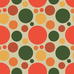 Vector fabric circles abstract seamless pattern background