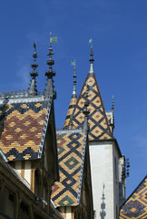 Old hospice of Beaune, France