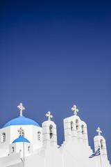 Griechenland, Kykladen, Naxos, Agios Nikodimos Kirche vor blauem Himmel