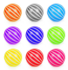 Set of toy balls