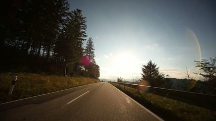 Ob-Board-Kamera im Schwarzwald, Deutschland