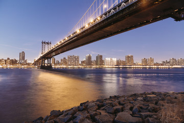 USA, New York City, Manhattan Bridge