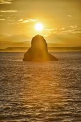 Neuseeland, Südinsel, Nelson, Sonnenuntergang über Arrow Rock