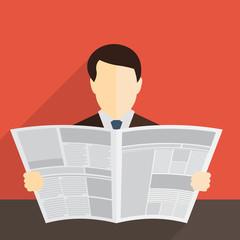 news paper business men