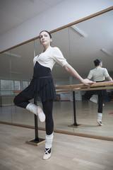 Ballettänzerin bei einer Probe