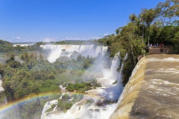 Südamerika, Argentinien, Parana, Iguazu Nationalpark, Iguazu Wasserfälle, Regenbogen