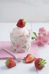 Erdbeer-Eis